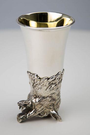 Jagdbecher Keiler Silber