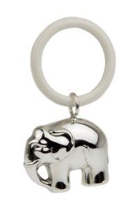 Silber Beissring mit Elefant