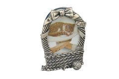 Silber Bilderrahmen Katzenkorb