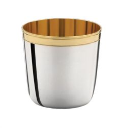 Silberbecher mit Goldrand Höhe 5 cm