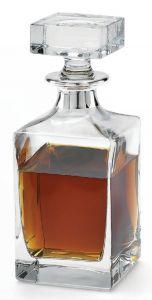 Whiskeykaraffe mit Silberrand