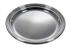 Gläserteller Sterling-Silber glatt mit Fadenrand