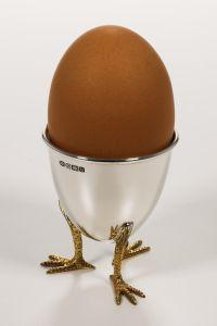 Eierbecher mit Hühnerfüßen Sterling-Silber