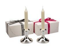 Kerzenleuchter Paar versilbert
