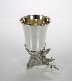 Jagdbecher Rehbock Silber