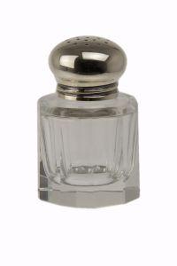 Pfefferstreuer Facett Silber+Kristall 5 cm
