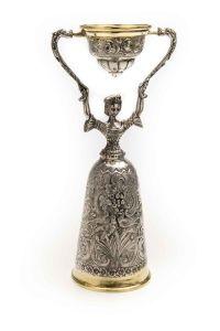 Brautbecher 20,5 cm Höhe echt Silber