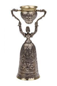 Silber Hochzeitsbecher Brautbecher 14,5 cm