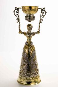 Silber Hochzeitsbecher Brautbecher 24 cm