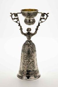 Brautbecher Hochzeitsbecher echt Silber Höhe 16 cm
