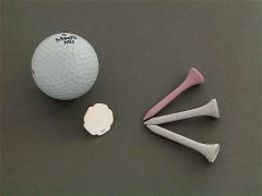 Silber Ballmarker Blatt Golf