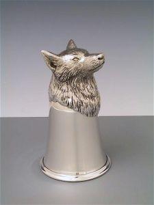 Jagdbecher Wolf Silber