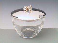 Silber Marmeladenglas (Orange)