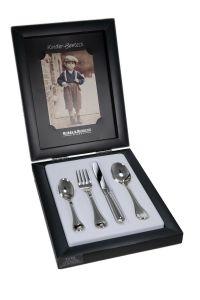Kinderbesteck 4 tlg. Classic-Faden Robbe & Berking Silber 925/000