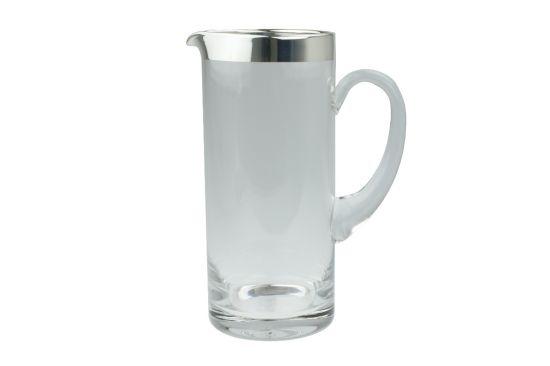 Kristallkrug mit Silberrand 1 Liter