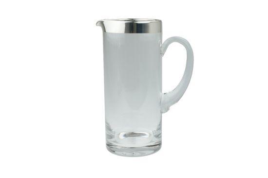Kristallkrug mit Silberrand 0,75 Liter