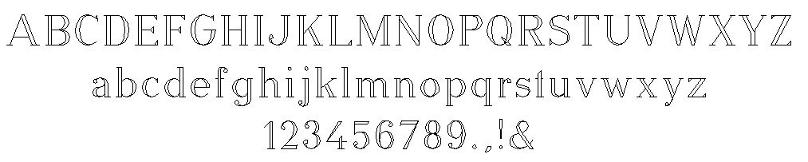 Gravurschrift Modrome