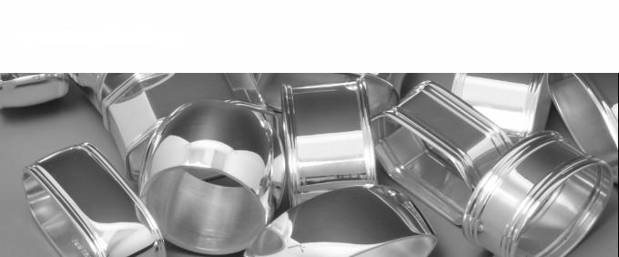 Serviettenringe aus Silber
